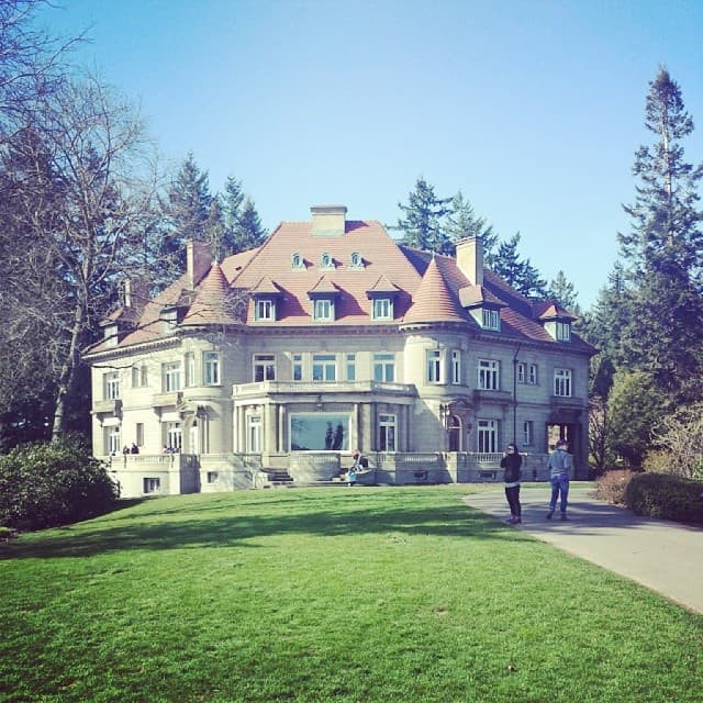 Pittock Mansion in the spring