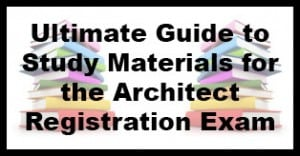 architect registration exam study guide