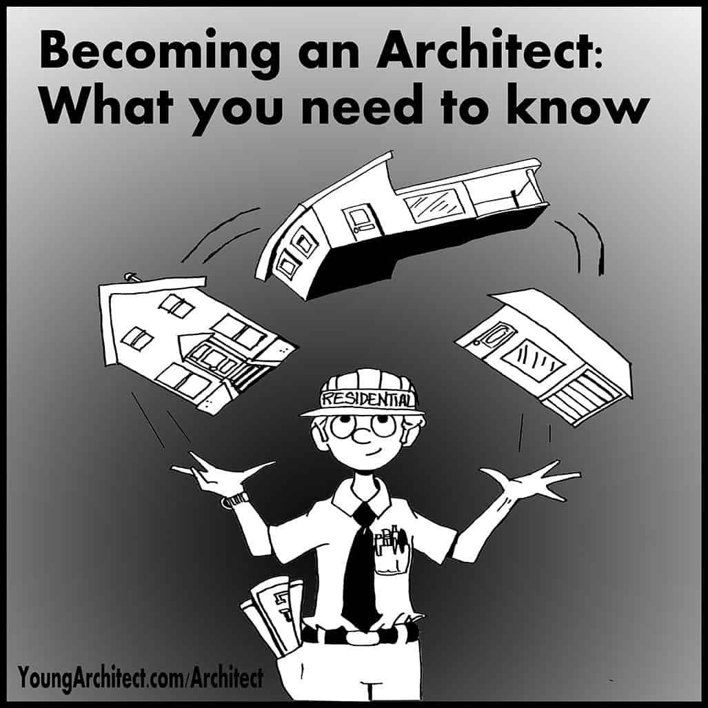 Architect juggling houses.