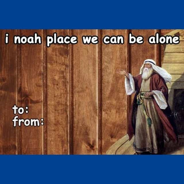Funny Valentines Day card with Noah