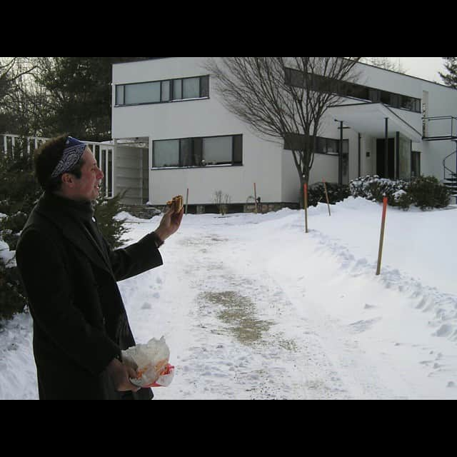 Mike Riscica outside Walter Gropius's house