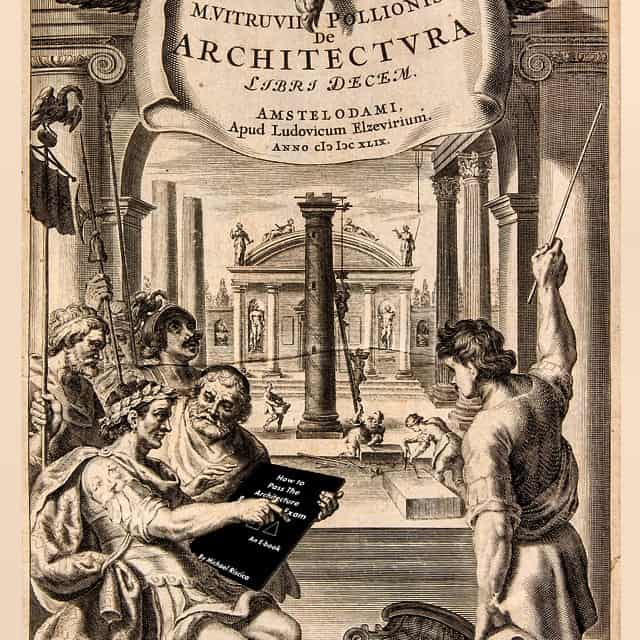 Vitruvius recommending a 2015 book to his students