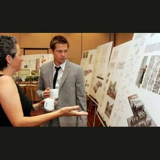 Brad Pitt playing an architect role