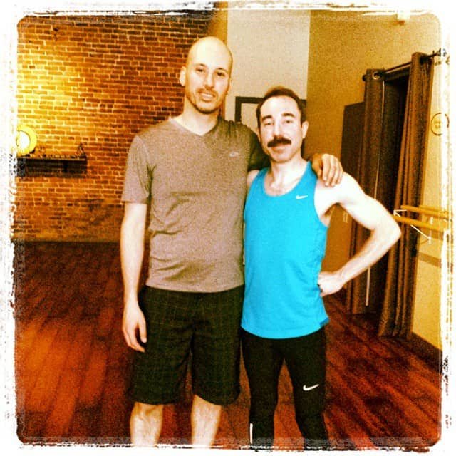 Ryan Vandordrecht and Mike Riscica after Yoga