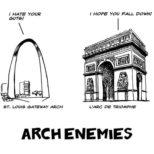St. Louis Gateway vs. L'Arc de Triomphe
