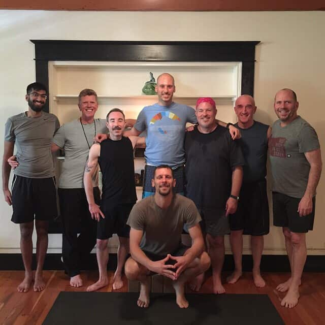 The men in YoYoYogi class, Portland Oregon