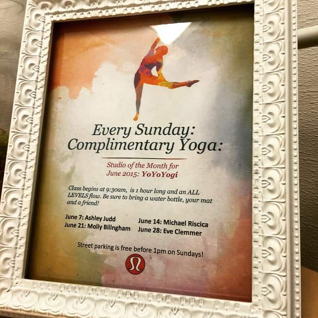 Portland Lululemon Yoga in June