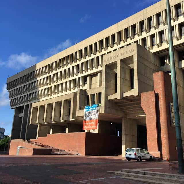 A picture with the Boston City Hall
