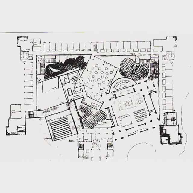 Architecture black and white plan