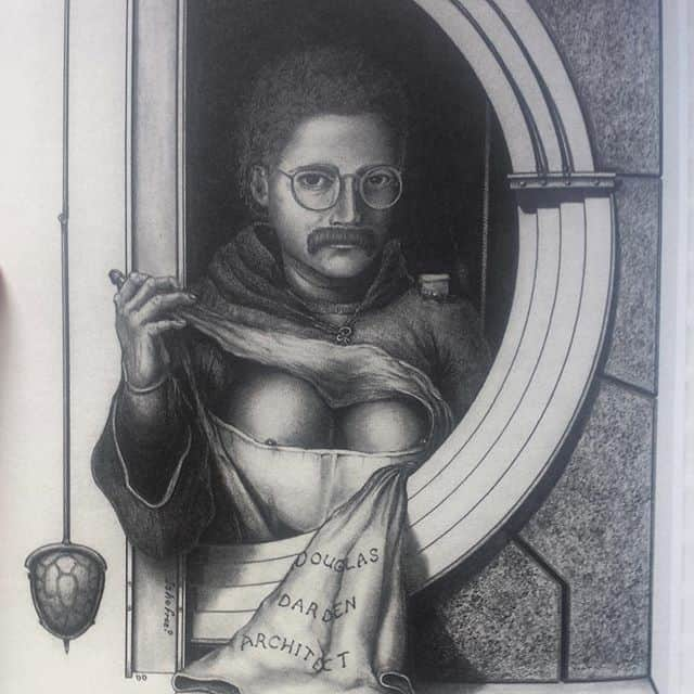 Douglas Darden self-portrait with boobs