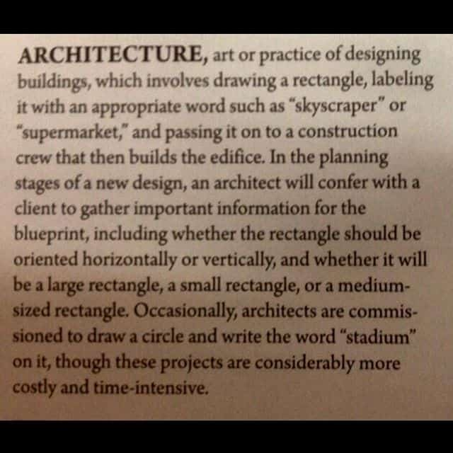 What architecture trully represents