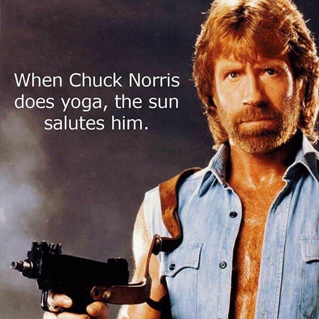 When Chuck Norris does Yoga