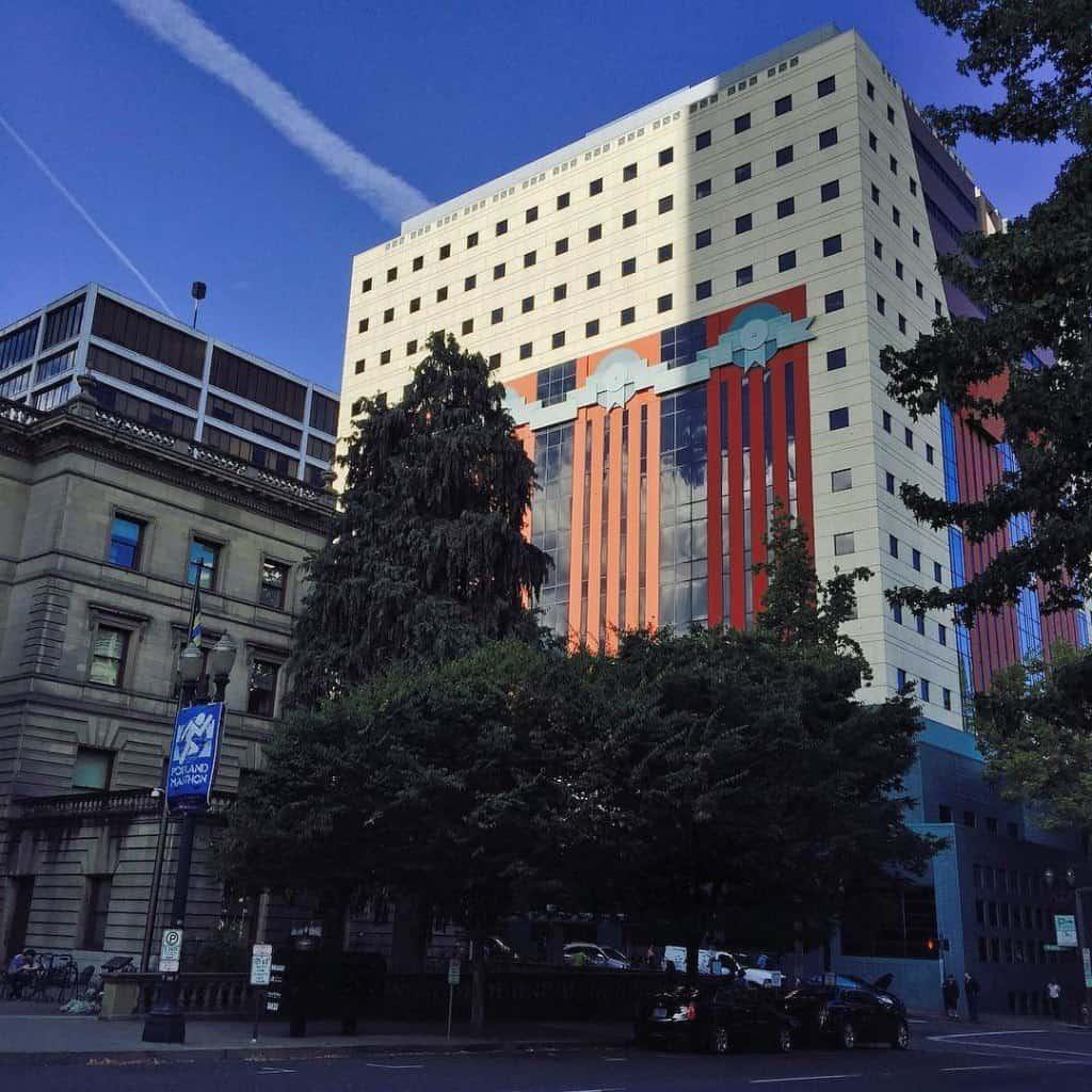 Christmas-looking building in Portland
