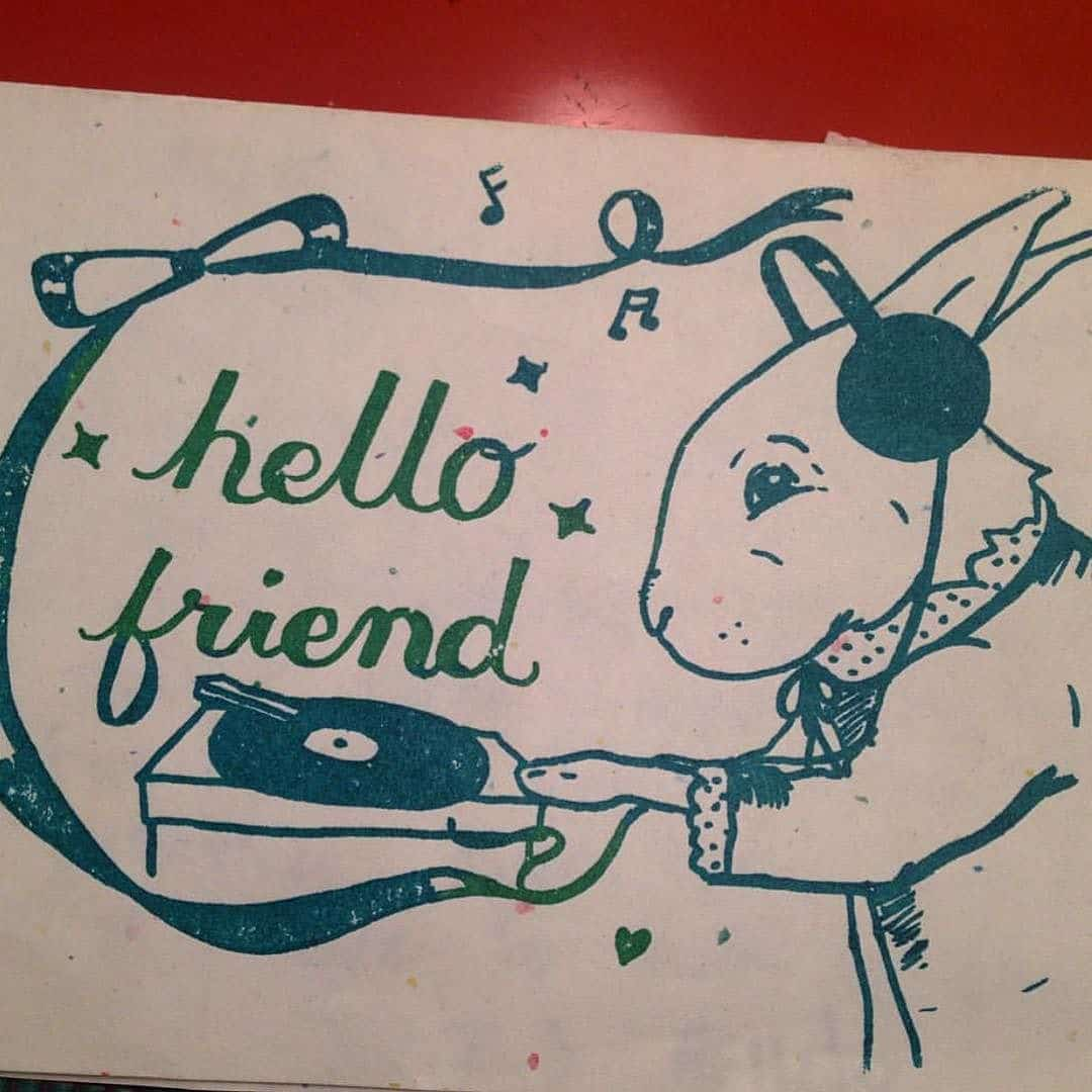 Hello friend drawing