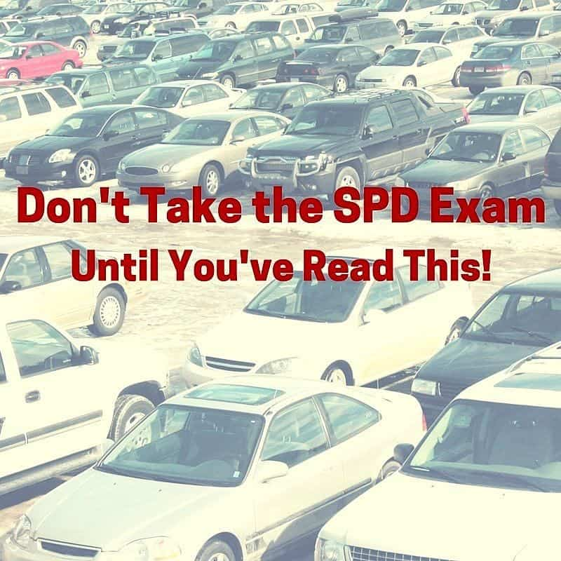 The SPD exam