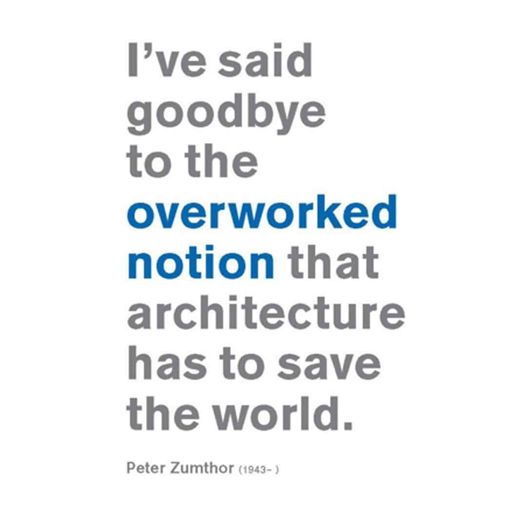 Architecture saving the world