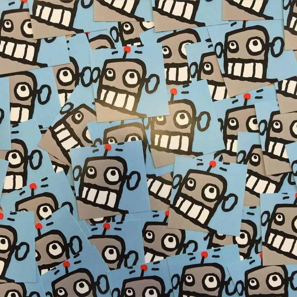 Dude Robot Stickers