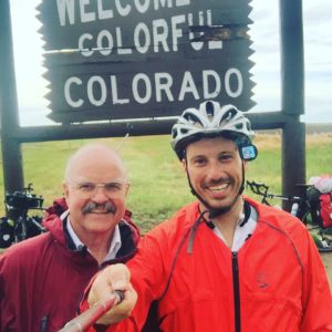 My best friend Bob Potter showed up to suprise me 5 miles before I hit the Colorado border and 10 minutes after I just rode through a nasty storm! #bestdayever #bobpotter #Transam2016 #Biketouring #Bicycletour #CycleTouring #AdventureByBike #RideYourBike #GetOutAndRide #worldbybike #BikeTour #Bikepacking #AdventureCycling #DudeRobot
