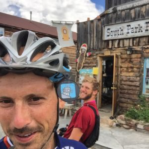 Checking in at South Park Colorado! #mrhanky #Transam2016 #Biketouring #Bicycletour #CycleTouring #AdventureByBike #RideYourBike #GetOutAndRide #worldbybike #BikeTour #bikenation #bikewander #bikesofinstagram #Bikepacking #AdventureCycling #DudeRobot