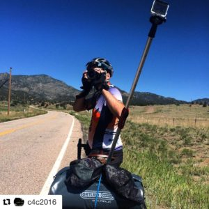 Who brings a DSLR on a cross country bicycle ride? #3lenses #15footextensionchord #powerstrip #laptop #selfiestick #reverseselfiestick #ipod #30lbsofrobotstickers #gps #kickstand #gopro #19batteries #nocookingequipment #noclothes #raybanpolarizedsunglasses #iphone6splus #Repost @c4c2016