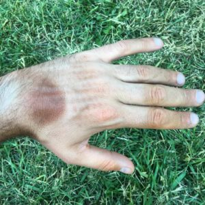 Bike glove tan lines and a little bit of dirt. #Transam2016 #transamericatrail #Biketouring #Bicycletour #CycleTouring #AdventureByBike #RideYourBike #GetOutAndRide #worldbybike #BikeTour #bikenation #bikewander #bikesofinstagram #Bikepacking #AdventureCycling #DudeRobot #tansofthetransam