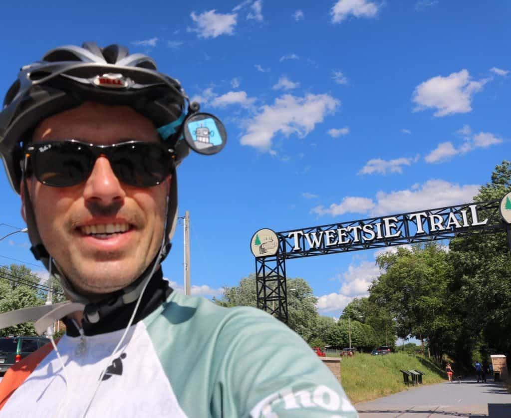 I rode the Tweetsie Trail yesterday. #biketouring #transamerica #transamerica2016 #biketouringlikeaboss #tweetsietrail #cyclingacrossamerica