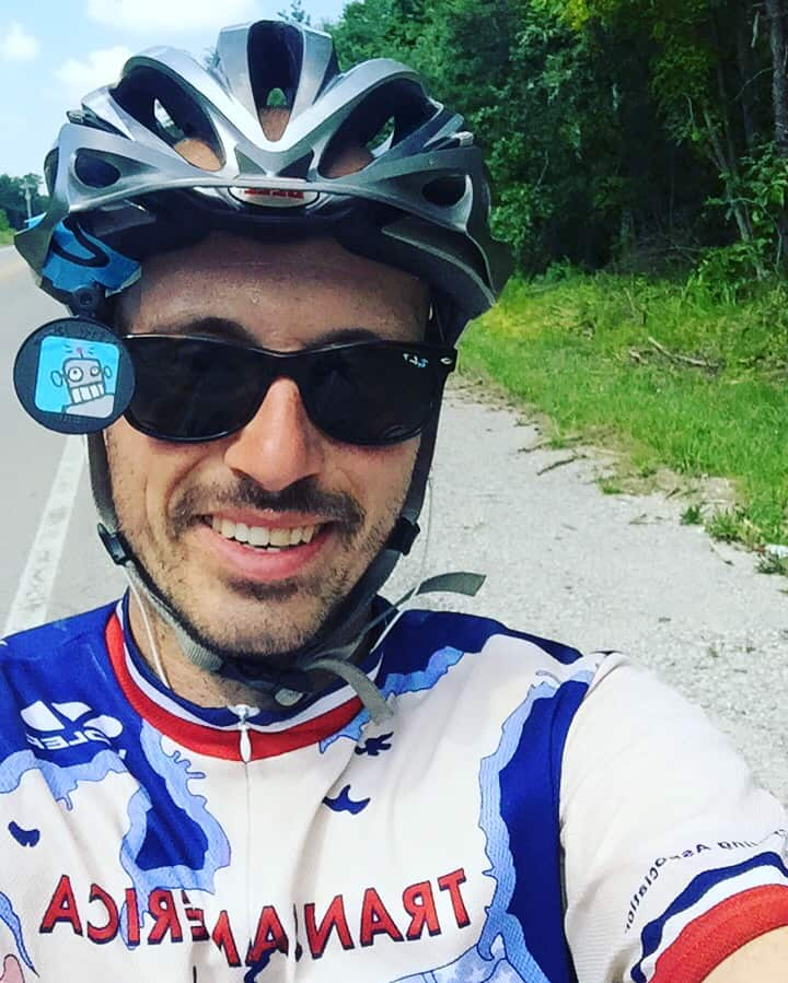 Headwinds, 100 degree heat, climbing mountains and cycling on busy roads! ...that's Michael Riscica's natural habitat! Sure is better then a day in that air conditioned cubicle. Atleast the wind keeps me cool! Headed towards Nashville. Should I stop or just keep riding?!?? #transam2016 #mikeriscica666 #biketouring #bikepacking #trekbikes #adventurecycling #duderobot #quityourjob #heatwave #punkrock #mcdonalds #gatorade #cokeinacan #icecream #cheeseburgers #hydration