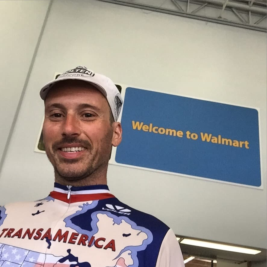 Welcome to Walmart City ? A new selfie stick is up in this mfn house!!!! #transam2016 #walmart #selfiestick #biketouring #suntanned #italian #biketouringlikeaboss #mayorofwalmartcity