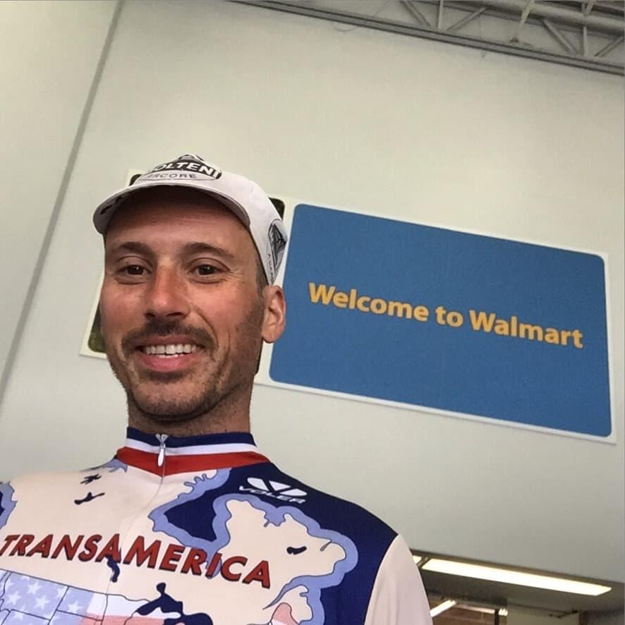 Welcome to Walmart City 🤓 A new selfie stick is up in this mfn house!!!! #transam2016 #walmart #selfiestick #biketouring #suntanned #italian #biketouringlikeaboss #mayorofwalmartcity