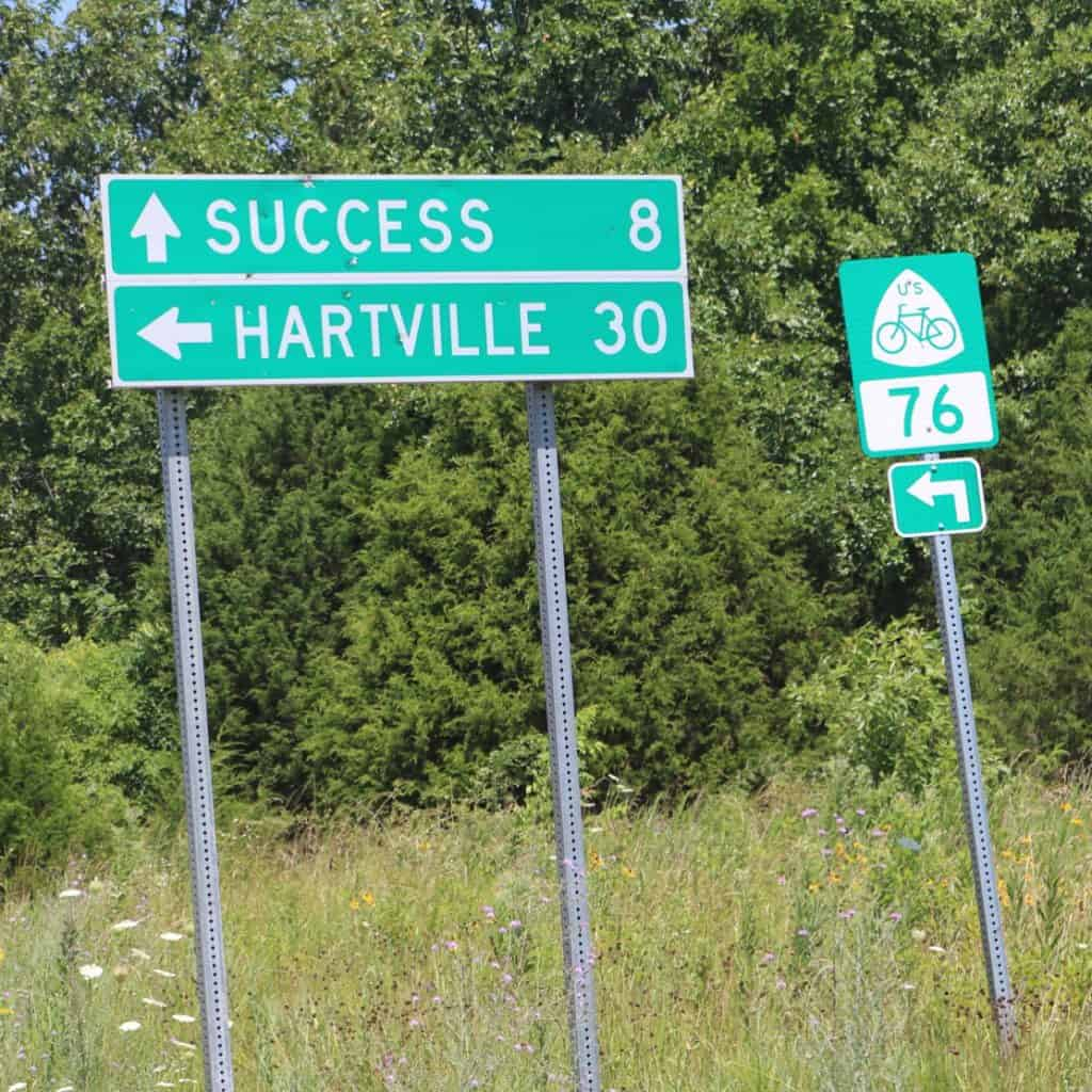 There is no success on Bike Route 76. Instead go ride 30 more miles of gnarly Ozark mountains for the day. Watch out for the rumble strip! #transam2016 #success #bikeroute76 #biketouring #bicycletouring #adventurecycling