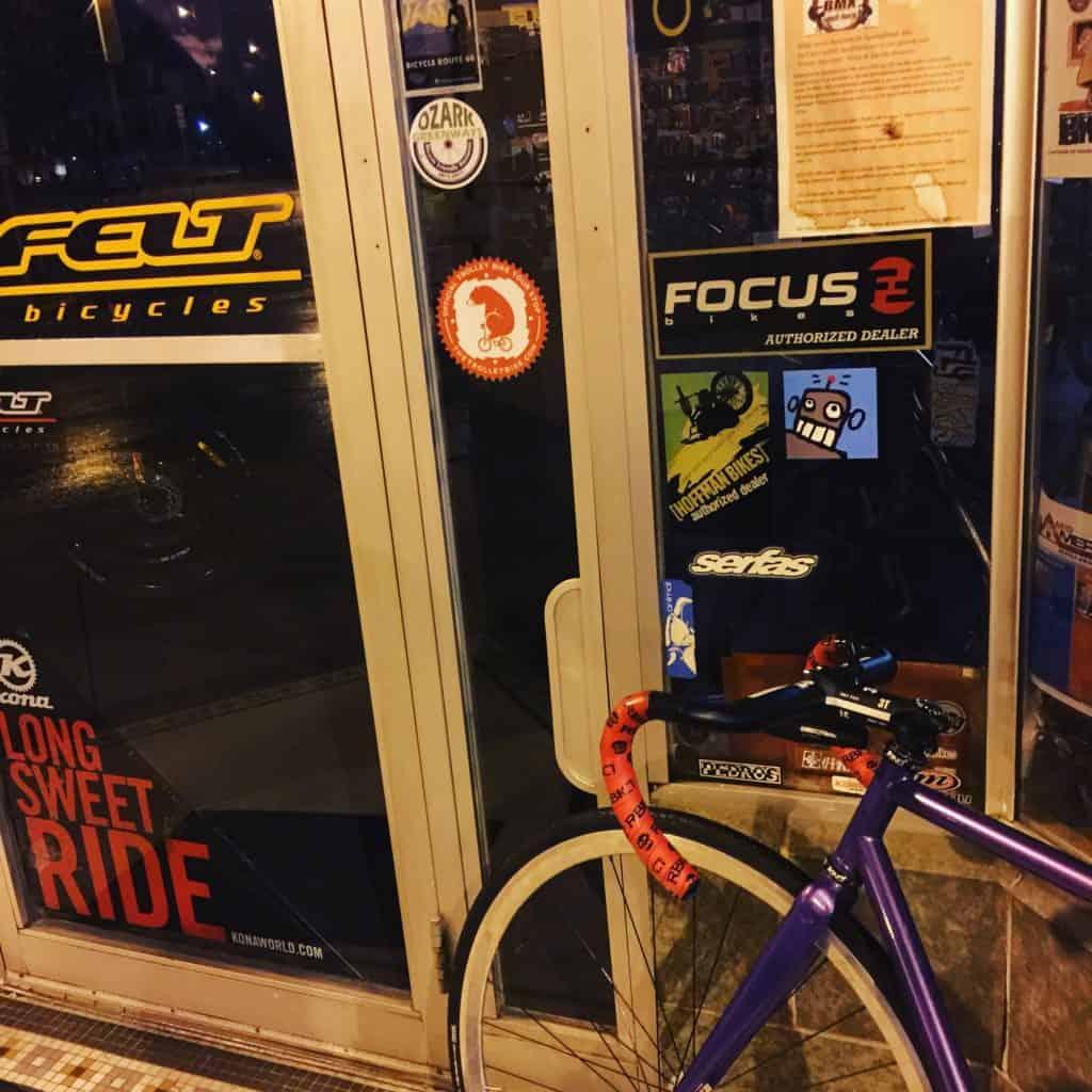 I think I'm just gonna abandon the transam and just hangout in Springfield, Missouri forever! I love this town! #transam2016 #bicycletouring #biketouring #bikepacking #duderobot #fixienobrakes