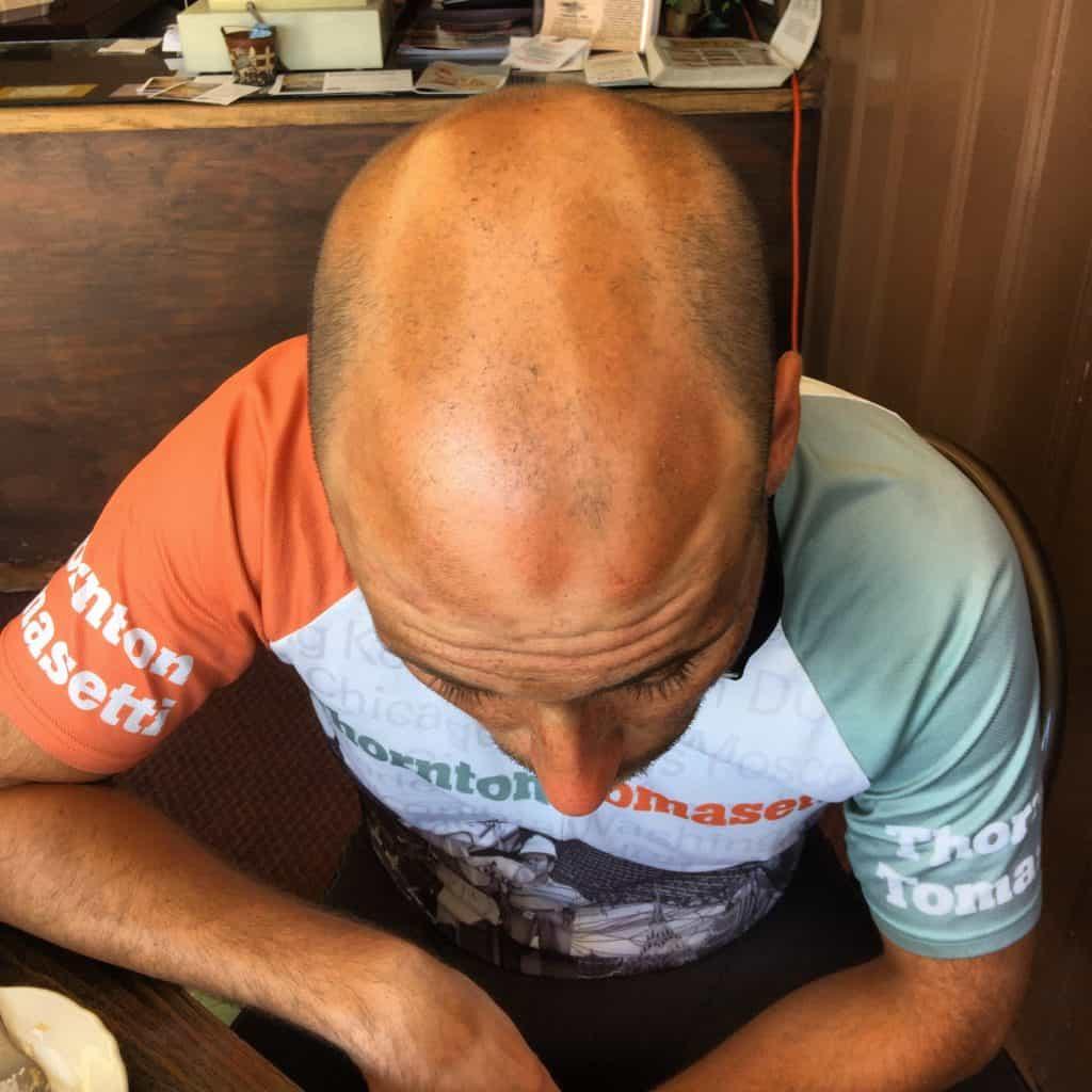 I'm really proud of my helmet tan. #Transam2016 #Biketouring #Bicycletour #CycleTouring #AdventureByBike #RideYourBike #GetOutAndRide #worldbybike #BikeTour #Bikepacking #AdventureCycling #DudeRobot #tansofthetransam