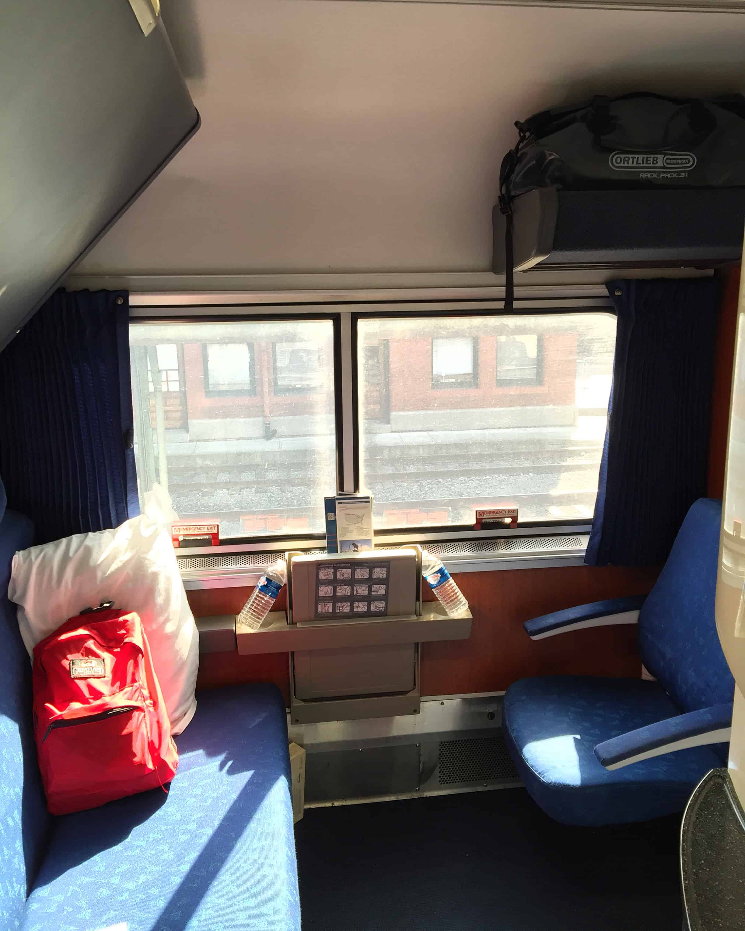 Sweet digs on the train! I'm staying horizontal until they kick me off. First leg to Chicago, then Pittsburgh and My final destination is Philly for the #aiacon16 and then head to Yorktown Virginia, where I'll start bicycling back to Oregon. #sleepercar #mikeriscicaVIP #3daysonatrain #trainrideacrossamerica #bikerideacrossamerica #?