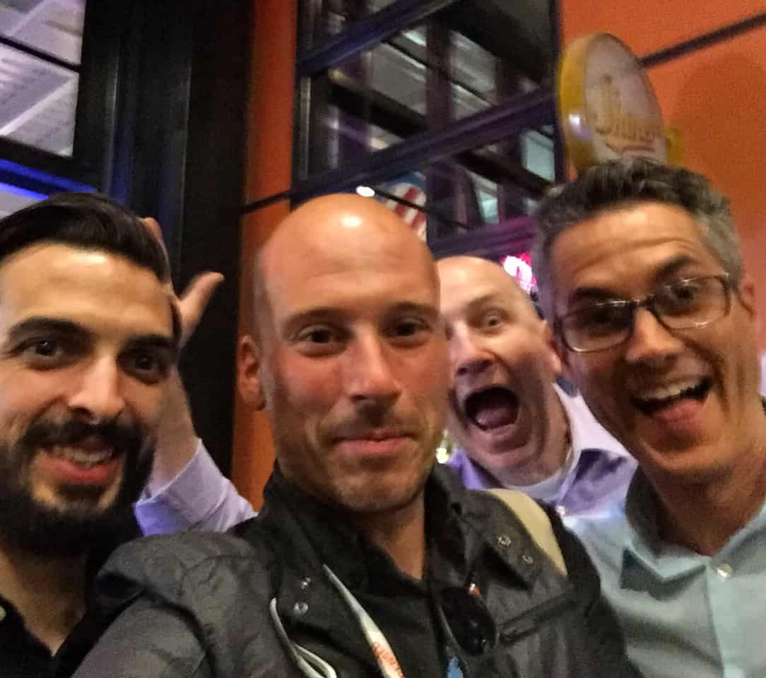 All star crew! Selfie with Lukas, Enoch Sears, Mark LePage! #nostick #aiacon16 #mikeriscicavip #entrearchitect #businessofarchitecture #nyitarchitecture