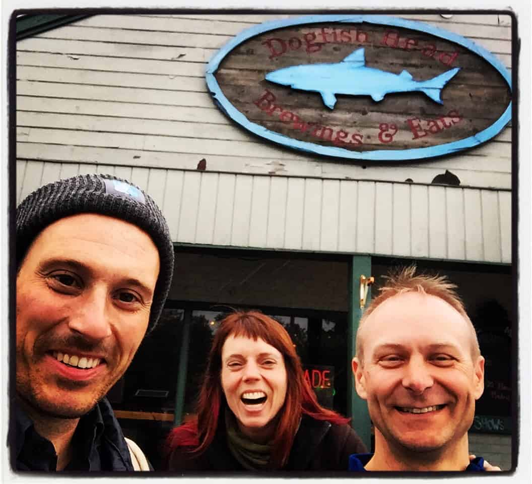 Quick detour to the @dogfishbeer Brewery! My bike touring friends Sam and Laura picked me up in Philly and are going to ride the first 200 miles with me across Virginia. Yesterday was also Sam's birthday! #dogfishhead #biketour #beer