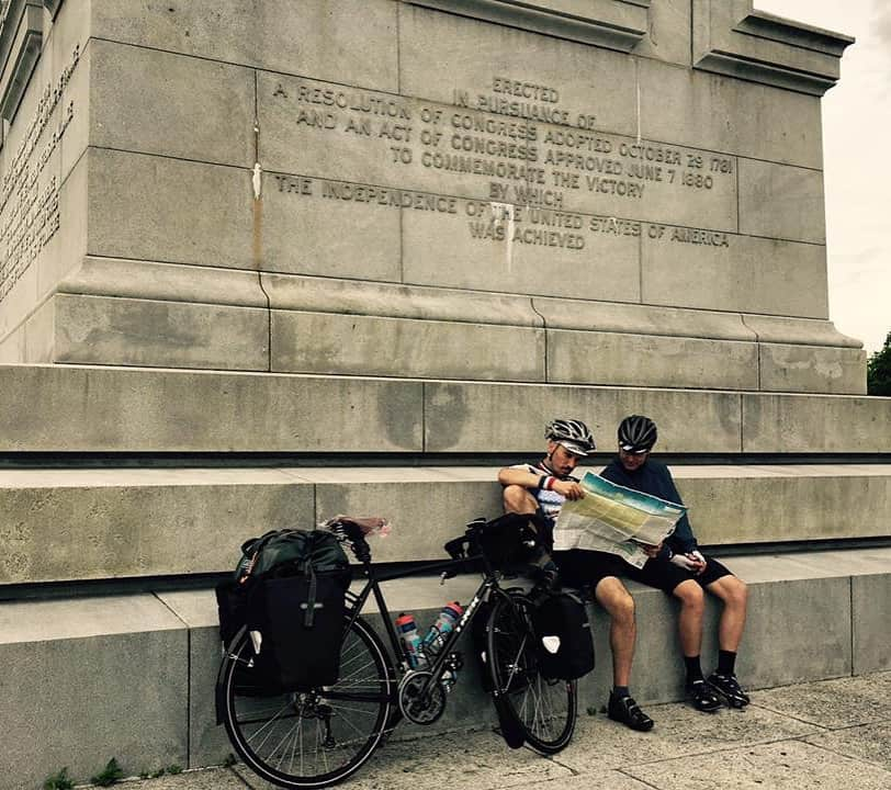 The Yorktown Victory Monument is the beginning of the Transamerican bicycle trail. Next stop is the Oregon Coast! #biketouring #duderobot #transamerica2016 #biketour #beer #architectbeserious