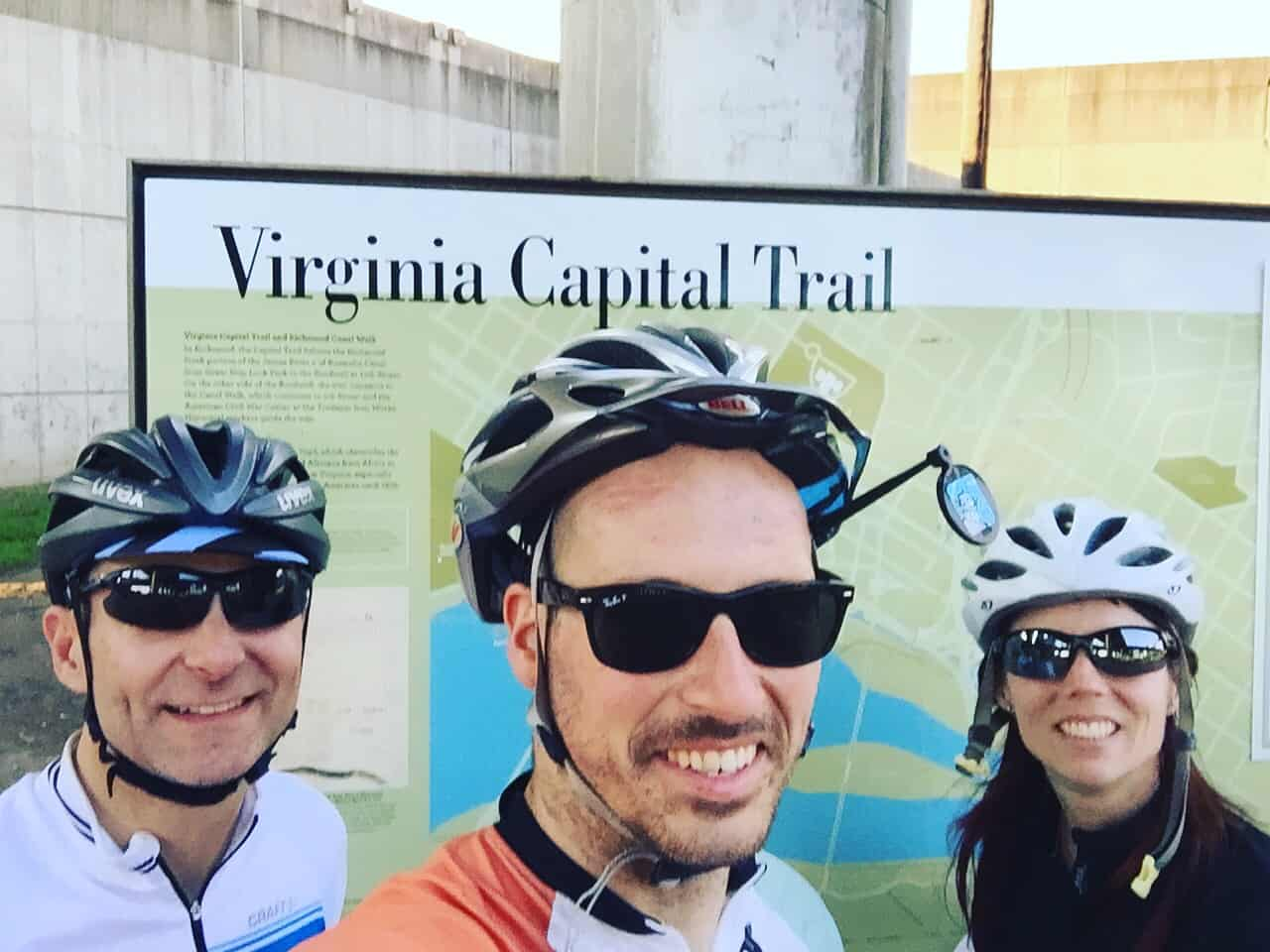 Wassup Richmond, Virginia! Rode the length of the amazing Virginia Capital Trail today!!! 52 miles of sweet off road bike path! This trail didn't exist in 2005! #biketour #biketouring #virginialcapitaltrail #transamerica2016 #? #smugglinggrapes #80mileday