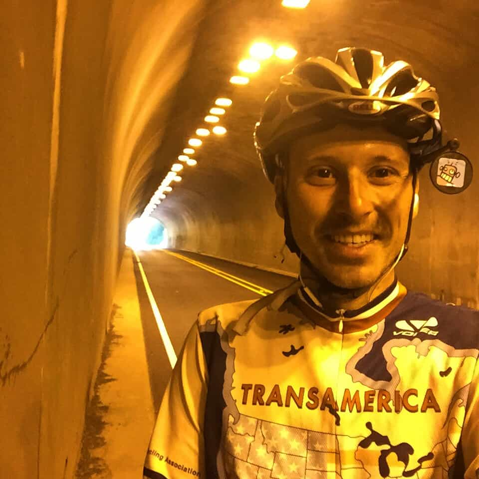 Quick let's take a selfie inside this tunnel before I get run over by a logging truck. #Transam2016 #Biketouring #Bicycletour #CycleTouring #AdventureByBike #RideYourBike #GetOutAndRide #worldbybike #BikeTour #bikenation #bikewander #bikesofinstagram #Bikepacking #AdventureCycling #DudeRobot #acatransam #trek520