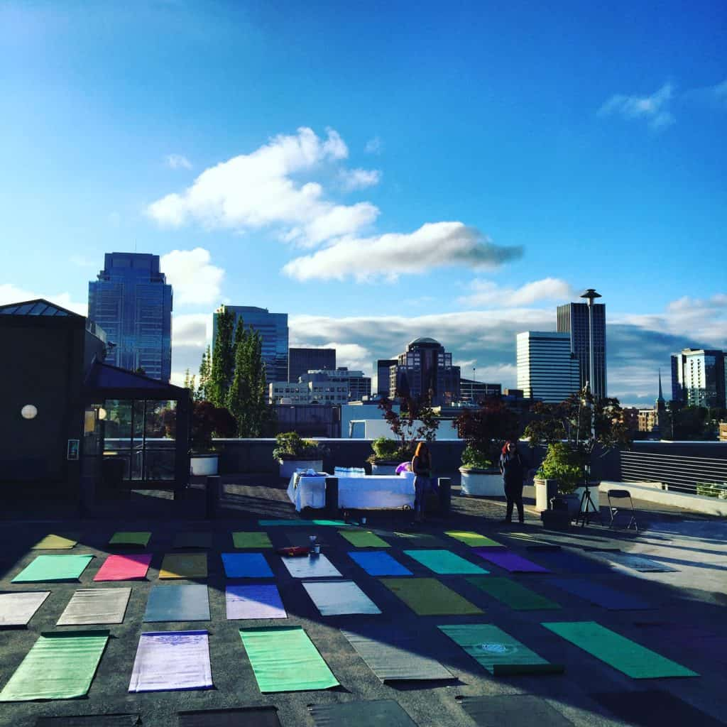All ready for yoga on the roof!!! #wds2016