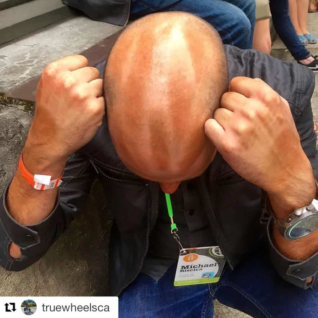 These tan lines are my trophy for cycling across America!!! #Repost @truewheelsca ・・・ Crazy fabulous conference in Portland. Cyclists find each other. I would have had to drop pants for the telltale thigh half-tan, but Michael here, fresh off the transam was easy to spot. #WDS2016 #Transam2016 #Biketouring #Bicycletour #CycleTouring #AdventureByBike #RideYourBike #GetOutAndRide #worldbybike #BikeTour #bikenation #bikewander #bikesofinstagram #Bikepacking #AdventureCycling #DudeRobot #acatransam #trek520