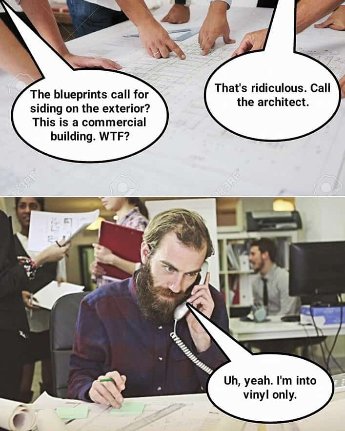 Hipster Architects and their vinyl.