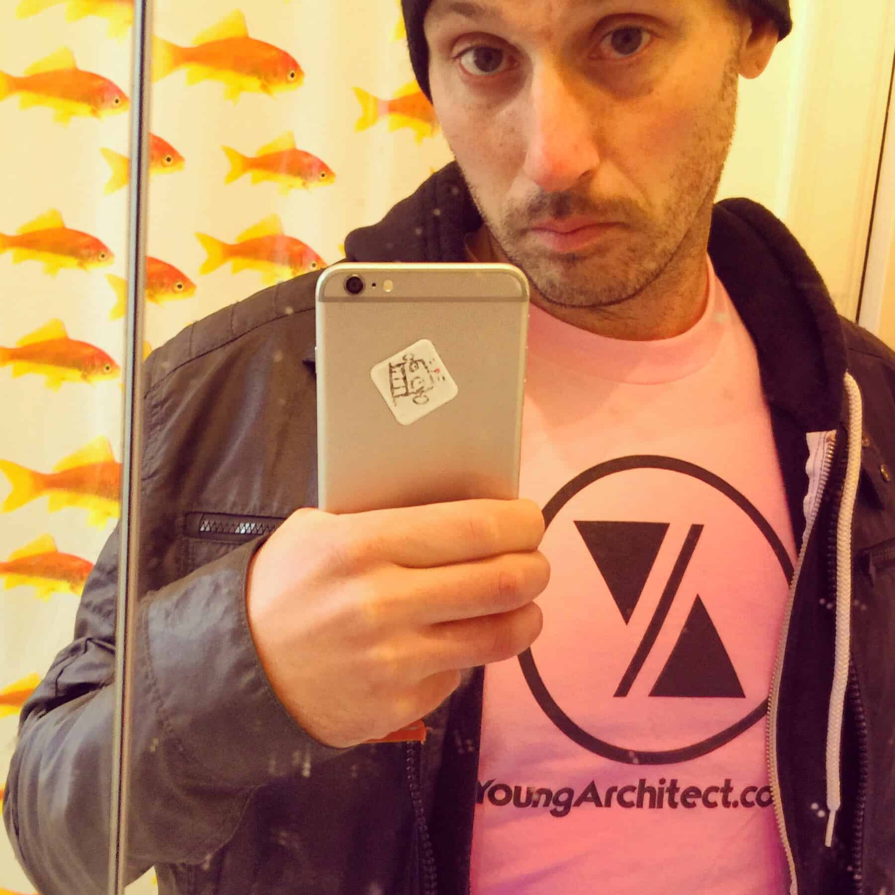 My new pink Young Architect shirt. #illwearapinkshirt #ilikepink #mikeriscica666 #mrpink