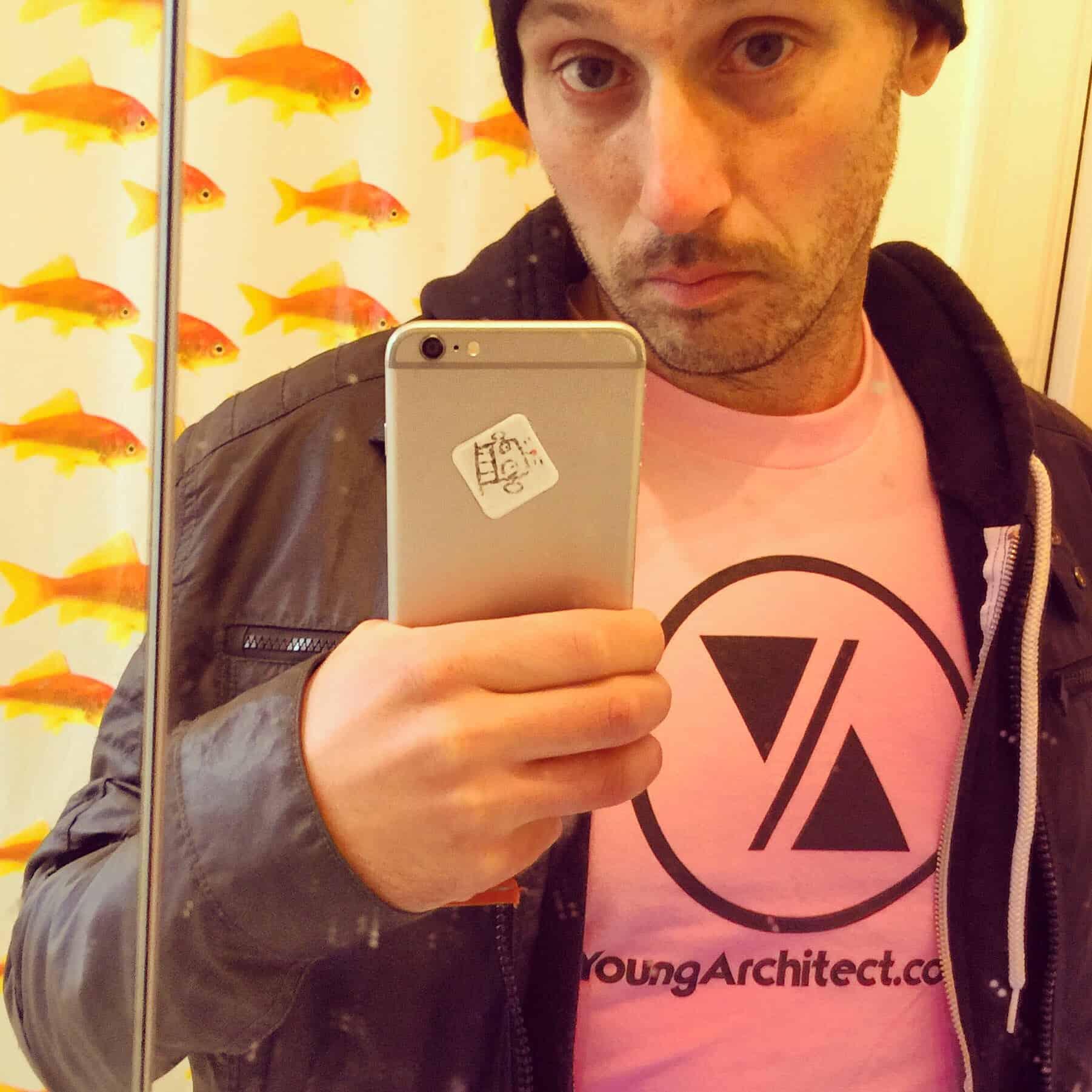 My new pink Young Architect shirt. #illwearapinkshirt #ilikepink #mikeriscica666 #mrpink