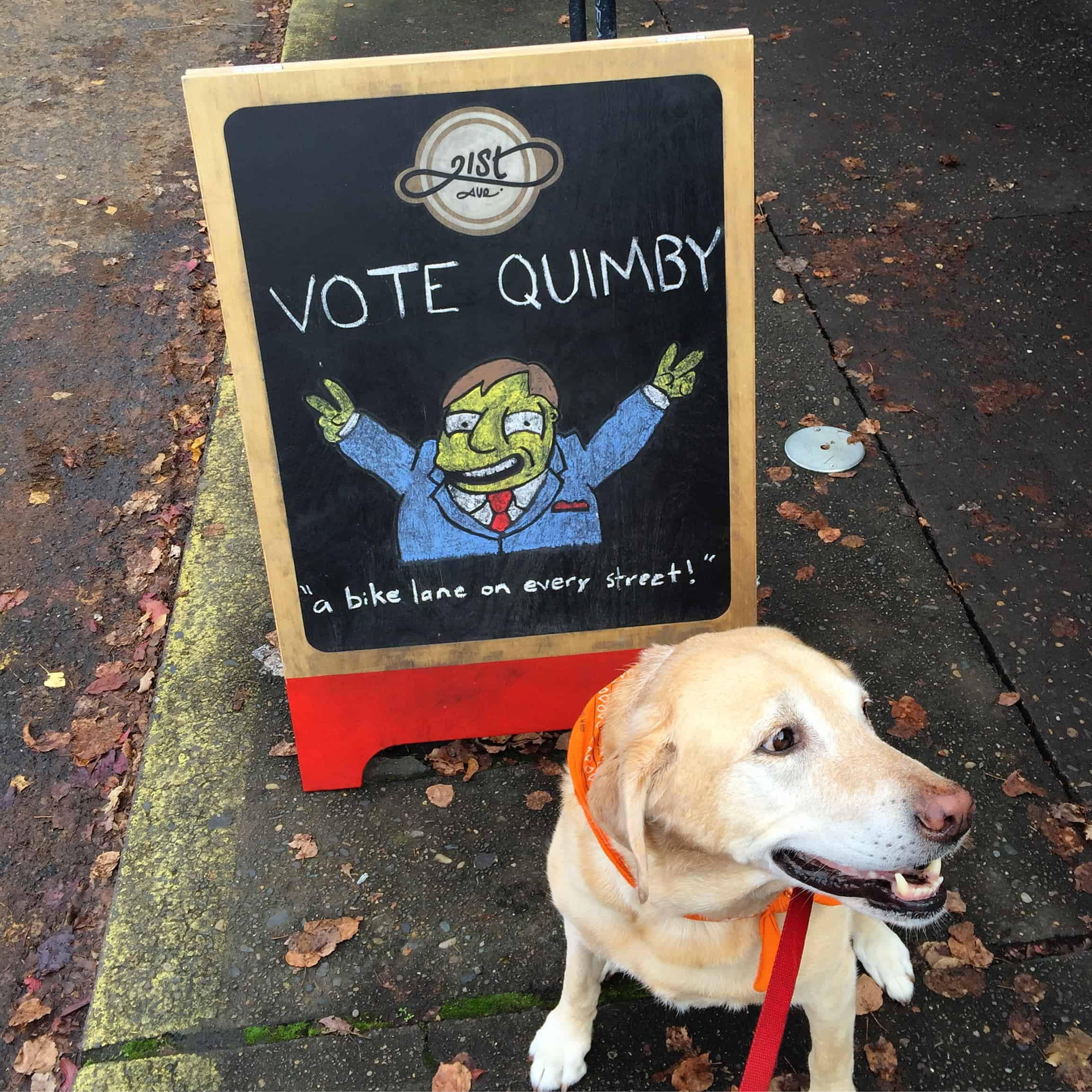 Molls told me she's voting for Quimby! #mollyriscica