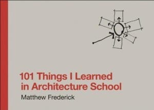 101 things architecture school