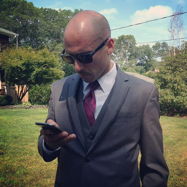 Picture of michael riscica in a tuxedo for a wedding
