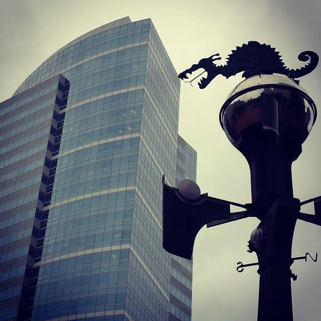 The Portland Weather Machine in Pioneer Square