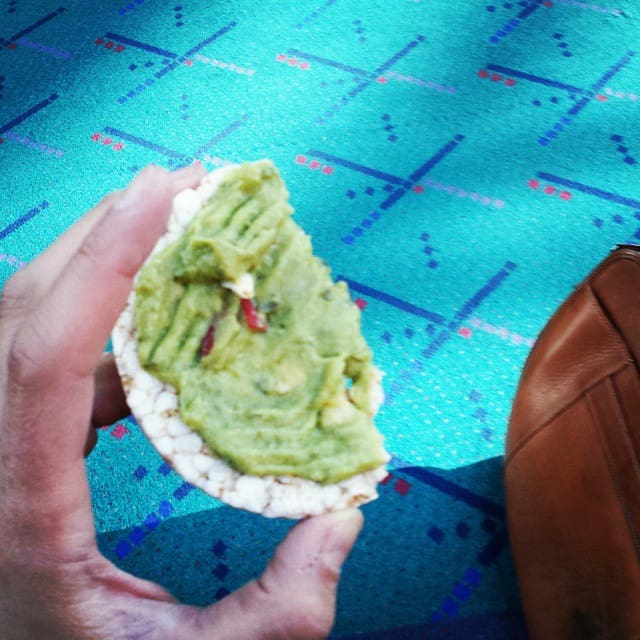 PDXcarpet eating guacomole