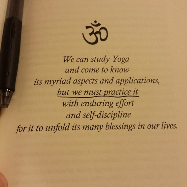 Small and deep quote about Yoga