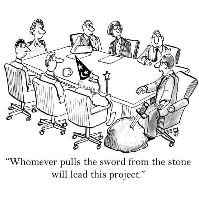 A funny cartoon about starting a new architectural project